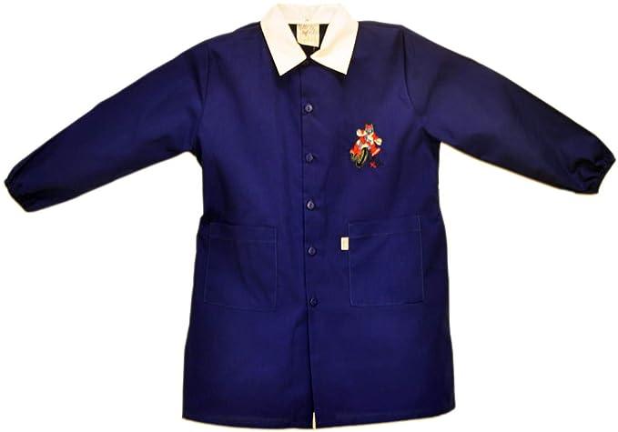 Tutti a Scuola - Bata de Colegio 28-423 para niño, Color Liso, Escuela Primaria, con Bordados ES 152cm: Amazon.es: Ropa y accesorios