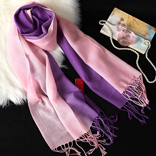 RENYZ.ZKHN Winter Pure Farbe TapeROT Scarf Scarf TapeROT Ladies Fringed Scarf Winter Long Autumn Winter Shawl Scarves da5e4f