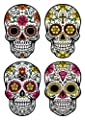 Wallmonkeys Sugar Skull Wall Decal Sticker Set Individual Peel and Stick Graphics on a Sticker Sheet WM383744