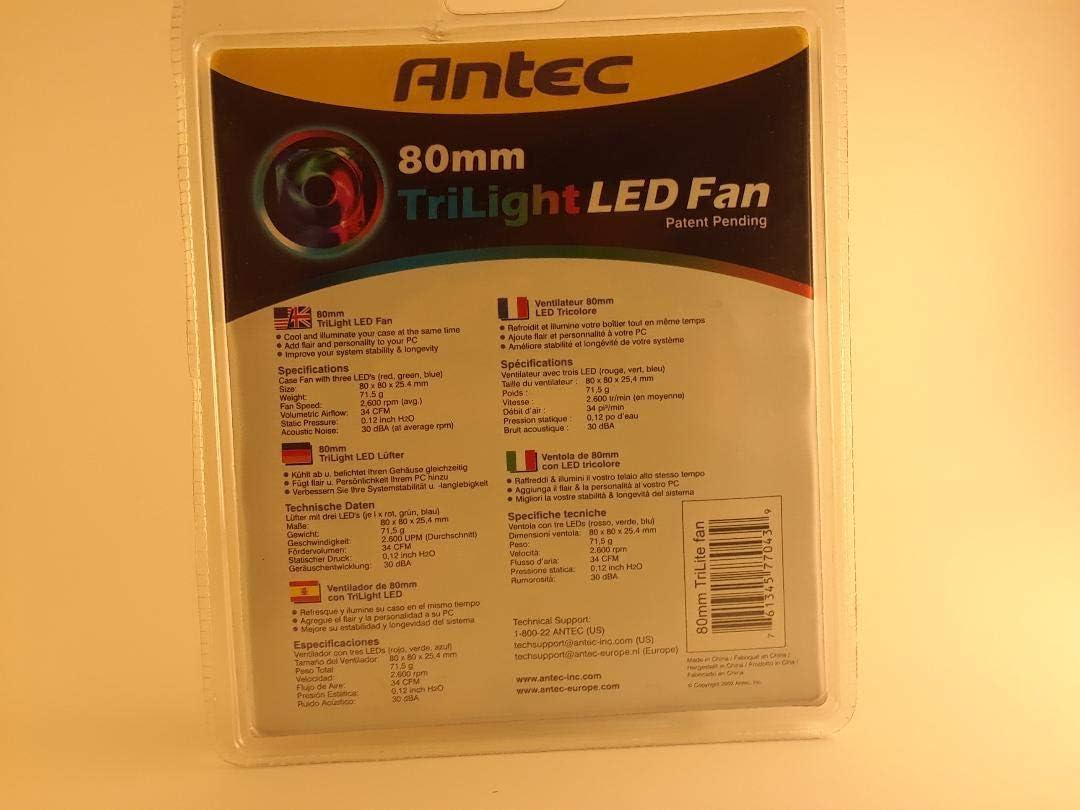 Antec 80MMTRILIGHTLED 80 Mm Trilight Led Case Fan