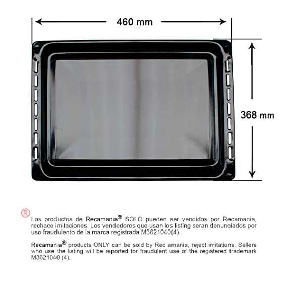 Recamania Bandeja Horno Teka 460X368mm 82405901: Amazon.es ...