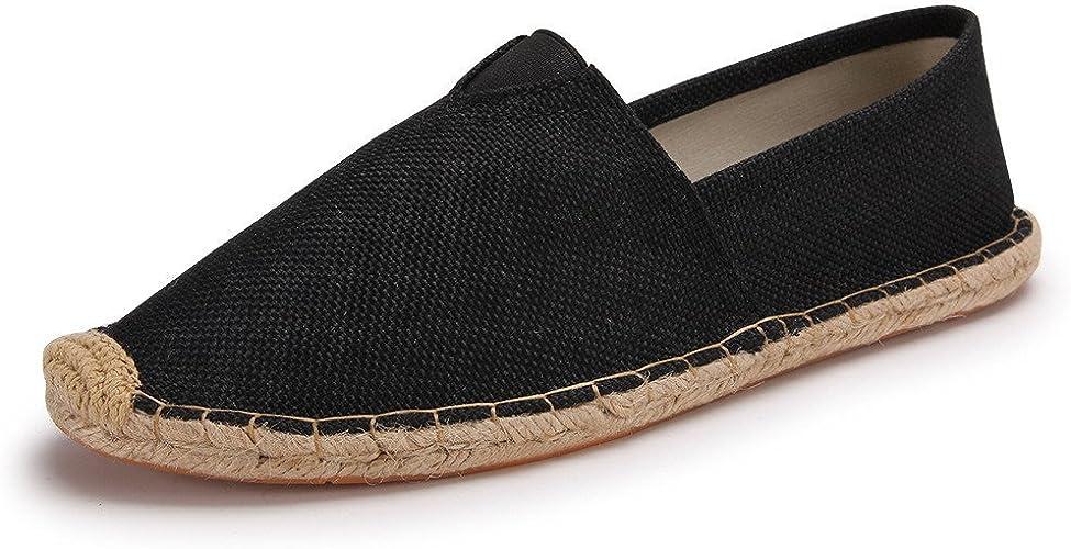 SHELAIDON Straw Beach Shoes Linen Men's