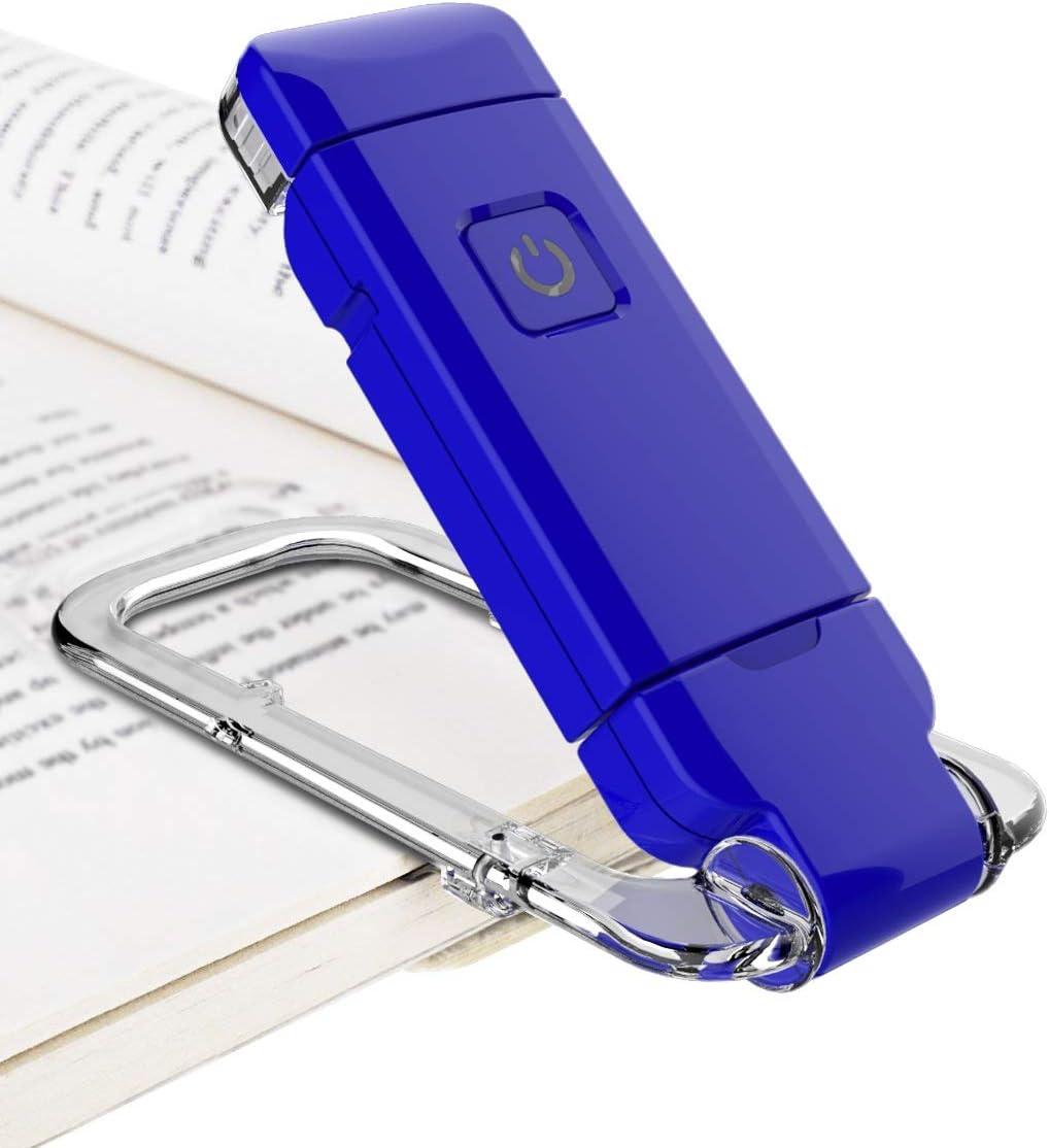 Blue Amber Reading Light for Kids Blue-Light Blocking,Portable LED Reading Lamp with 360/° Rotary Light Neck,Wireless Clip Reading Light for Books BIGMONAT Rechargeable Reading Book Light