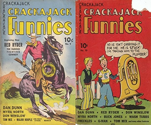 crackerjack-funnies-issues-9-10-features-dan-dunn-red-ryder-don-winslow-myra-north-buck-jones-wash-t
