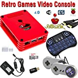 Raspberry Pi 3 based retro games emulation console, 32gb edition, 2x snes type controller, Retropie, wireless keyboard