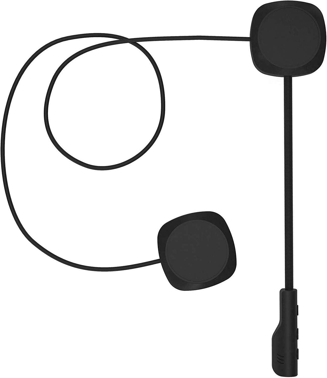 3T6B - Auriculares para Cascos de Moto Bluetooth 5.0, Auriculares para Casco de Moto para Manos Libres, Altavoces Musicales, Control de Llamadas de micrófono, Auriculares antiinterferencias