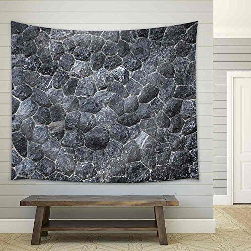 Black Stone Texture Fabric Wall