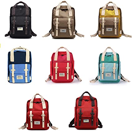 Casual Student Backpack Waterproof Oxford Cloth Hiking Backpack Fashion Girl Ultra Light Backpack Student Bag Design : E