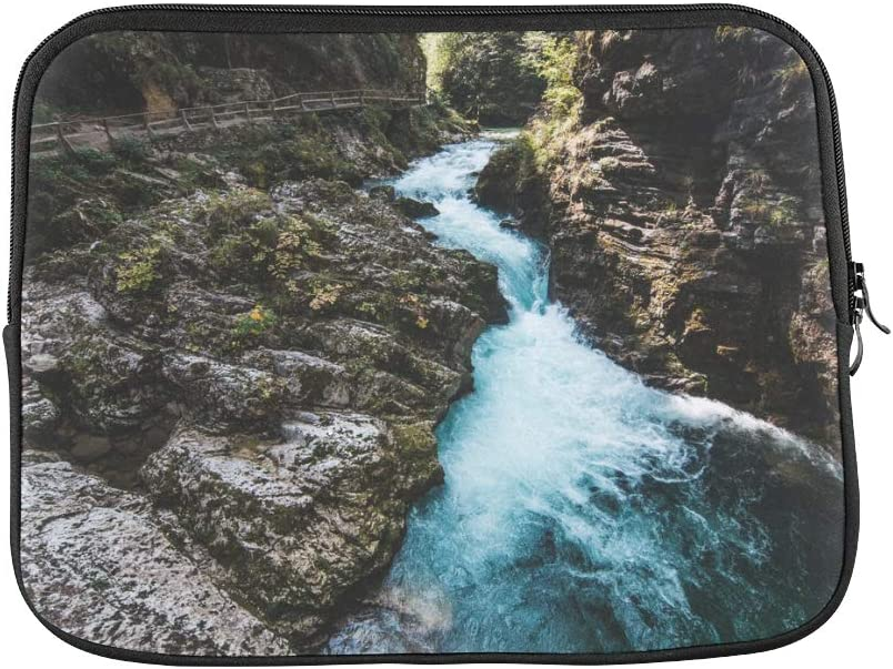 Unique Custom Spectacular Cliffs and Waterfalls Print Briefcase Laptop for Men Soft Womens Briefcase Bag Briefcase Protective for MacBook Air 11