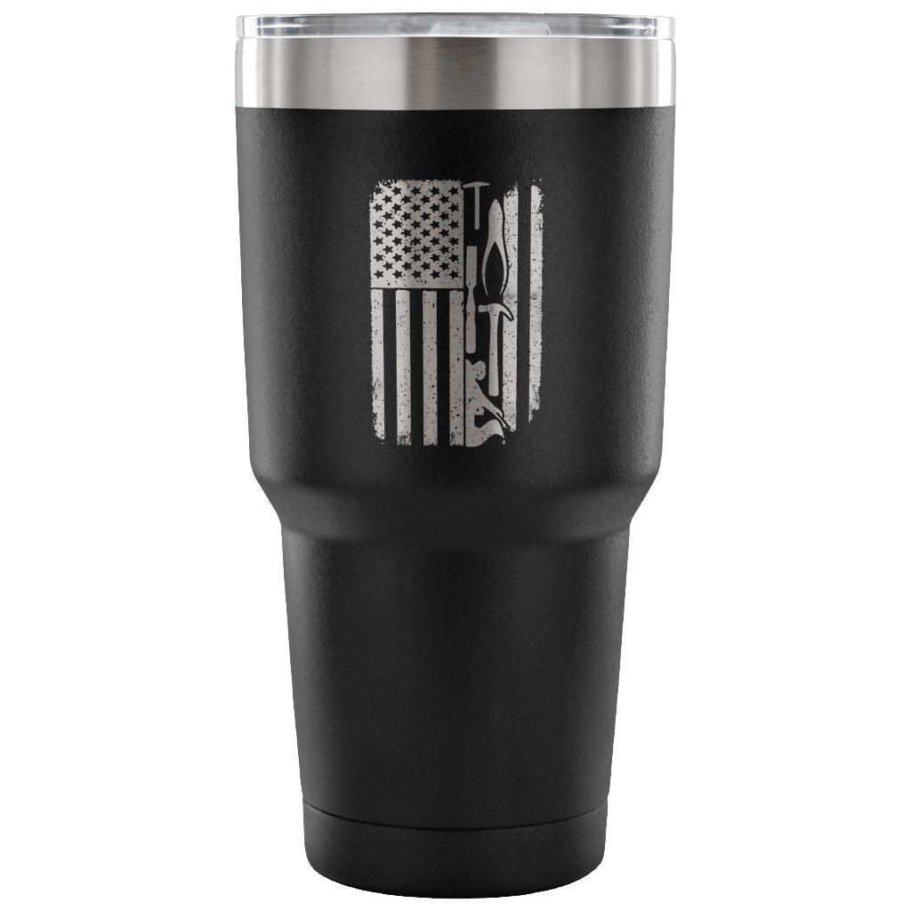 Woodworking USA Flag 30oz Tumbler Cup, Gift,Stainless steel cup, Metal cup, Vacuum Travel Mug, Water bottle