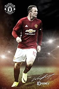 Manchester United Wayne Rooney 16/17 Soccer Football Sports Poster 24x36