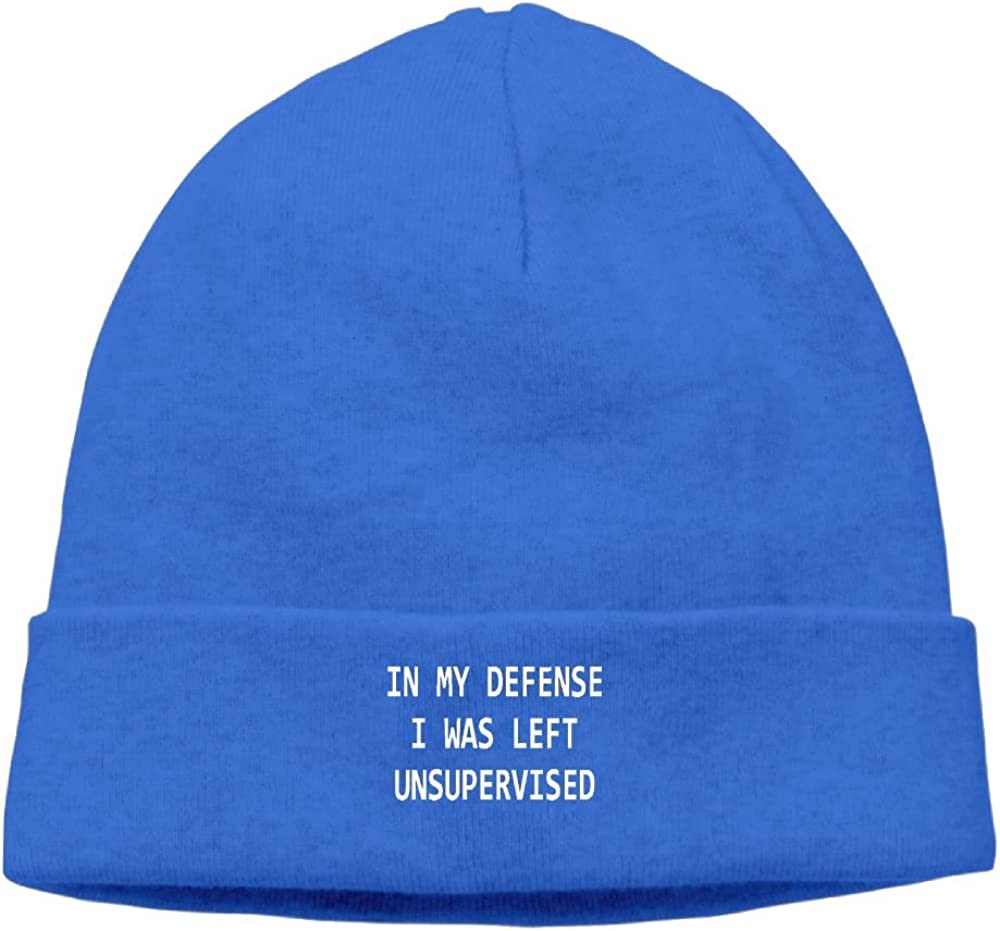 Jian BOJI In My Defense I Was Left Unsupervised New Winter Hats Knitted Twist Cap Thick Beanie Hat Royalblue