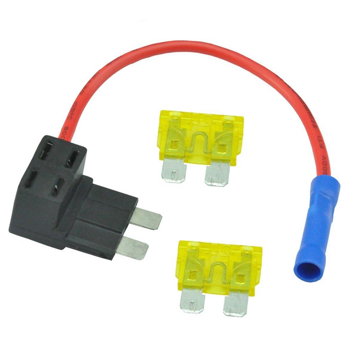 autoec ato atc 21amp add a circuit fuse holder fuse box tap kit Fuse Box Clip Art