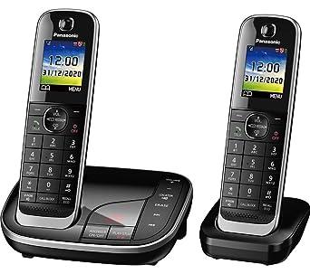 Best Cordless Phone 2020.Panasonic Kx Tgj422eb Twin Cordless Phone Amazon Co Uk