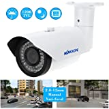 "KKmoon TP-W225BK Telecamera Videosorveglianza CCTV Camera 2.8-12mm 1200TVL 1/3"" SONY 42IR Impermeabile Esterna Varifocale"