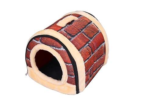 Acogedor 2-en-1 casa de mascotas y sofá Camas antideslizantes para gatos para