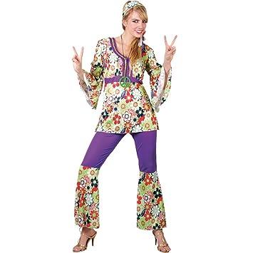 1960s Groovy Hippie Hippy Chick Fancy Dress Costume L (disfraz ...