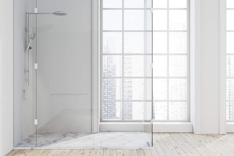 Mampara de ducha de plástico de alto impacto para revestimiento completo en azulejos existentes u otros materiales (blanco/mate).: Amazon.es: Bricolaje y herramientas