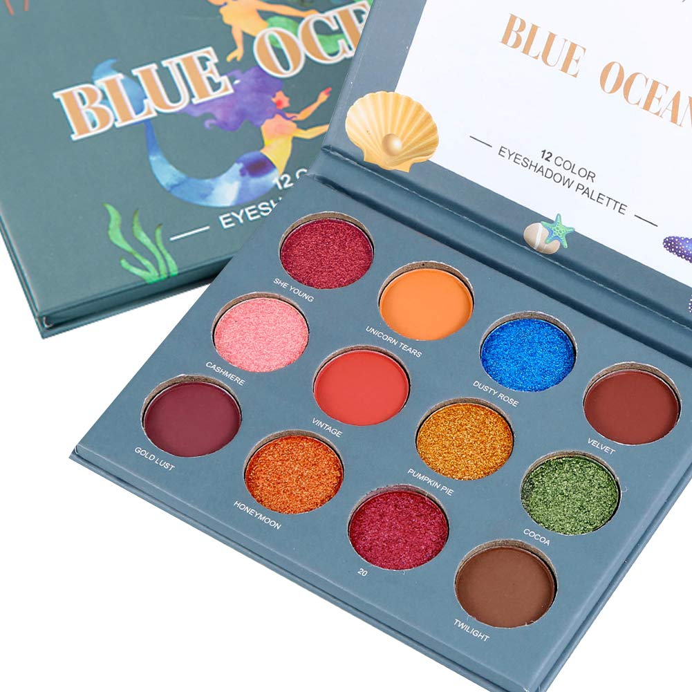 Amazon.com: Glitter Eyeshadow Palette 12 Colors Pigmented ...