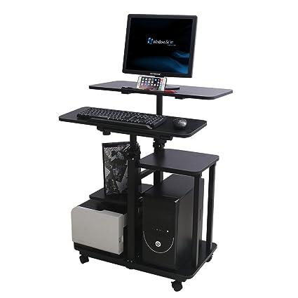 Mesa de escritorio para ordenador portátil, altura ajustable ...
