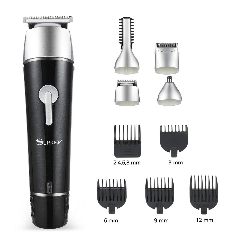 Electric Grooming Kit for Men, 5 in 1 Multi-functional Waterproof Rechargeable Grooming Kit