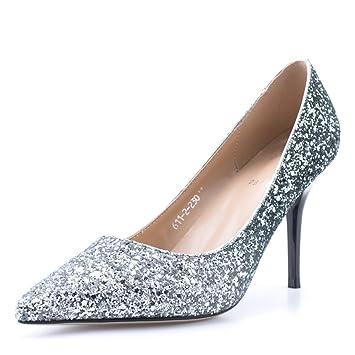 790042dbab8286 Damen High Heels Stilettos Mode Pailletten Gericht Schuhe Brautjungfer Sexy  Nachtclub Parteien Hochzeit Braut