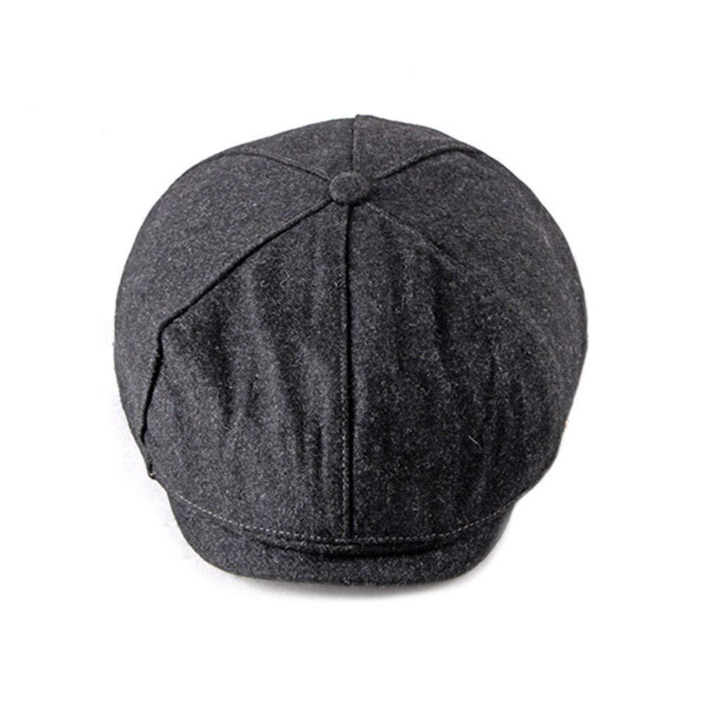 ZLSLZ Mens Vintage Woolen Flat Ivy Newsboy Cabbie Gatsby Beret Painter Hat Cap