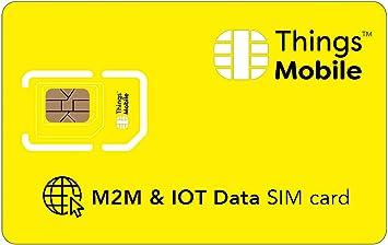 Tarjeta SIM de DATOS - Things Mobile con cobertura global y red multioperador GSM/2G/3G/4G LTE, sin costes fijos, sin vencimiento y con tarifas competitivas, con 10 € de crédito incluido: Amazon.es: Electrónica