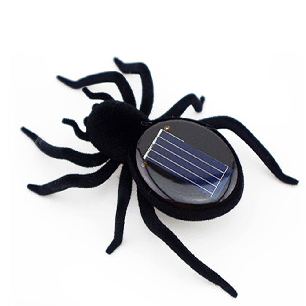 TOYMYTOY Solar Spinne Spielzeug Halloween Party Solarbetriebene Streich Spinnen Lustige Spielzeug Geschenk für Erwachsene Kinder