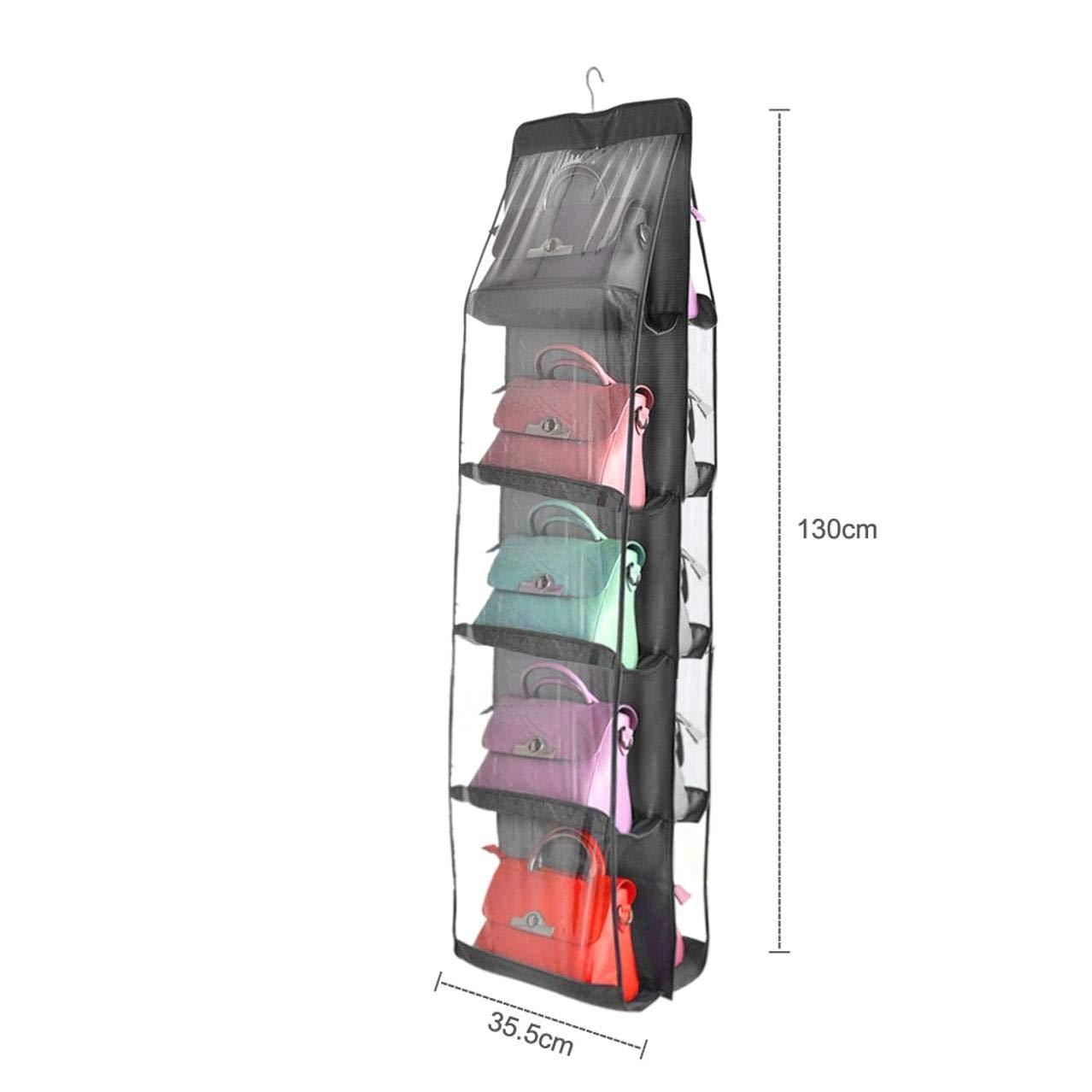 Ropa Armario para Zapatos Dormitorio Color Gris para Colgar en la Sala de Estar FDVE Organizador de Armario de 10 Bolsillos de Tela no Tejida Bolsos Transparente