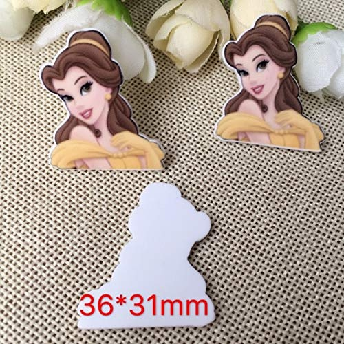 Ochoos 10pcs/lot Beauty and The Beast Kawaii Princess Belle Figurine Home Decoration Craft Flat Back planar Resin DIY Hair Bow accessor