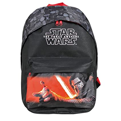 Mochila Niño Star Wars - Bolso Escolar con Bolsillo Frontal de la Guerra de Las Galaxias - Bolsa ...