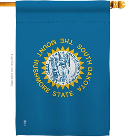 Amazon Com Americana Home Garden H140542 Bo South Dakota States Impressions Decorative Vertical 28 X 40 Double Sided House Flag Printed In Usa Garden Outdoor