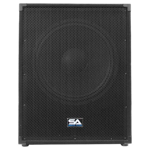 Seismic Audio - Aftershock-18 - Powered PA 18'' Subwoofer Speaker Cabinet