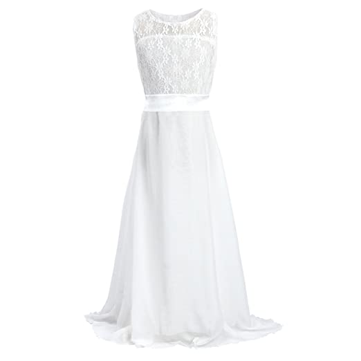 Amazoncom Acecharming Long Junior Bridesmaid Dress Big Girls