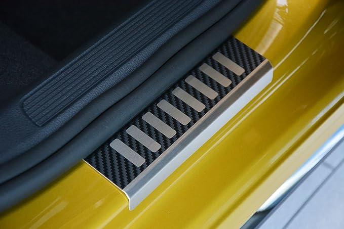 Ladekantenschutz für VW UP 5Tuerer ABKANTUNG CARBON AluNox®