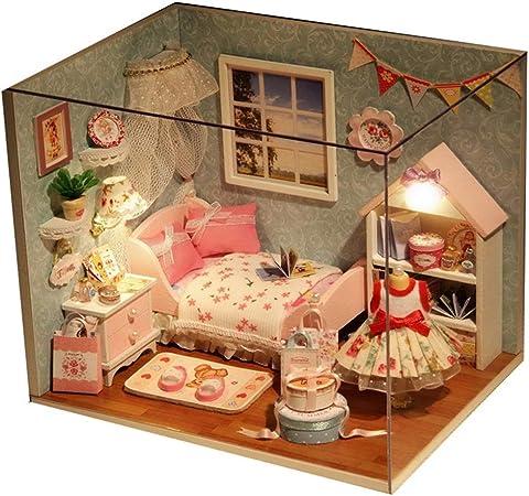 Maison de poupée Miniature Modèle de Chambre à Coucher ...