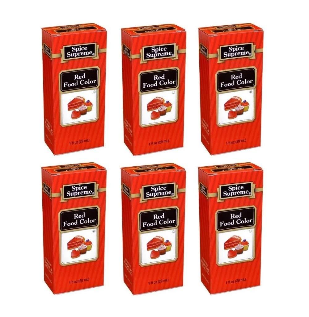 Spice Supreme Red Food Color Kosher 1 Fl Oz (Pack of 6)