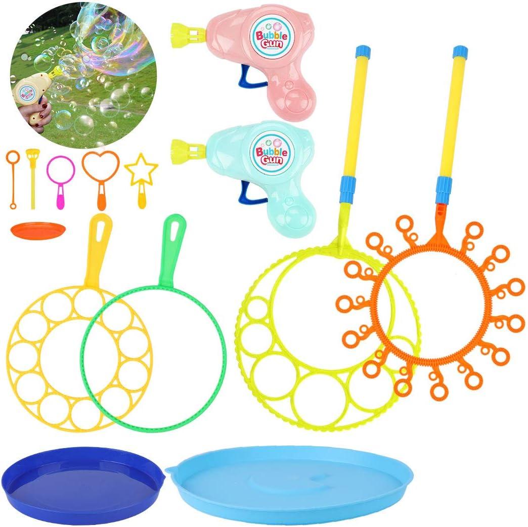 Joyibay Maquina de Burbujas, 14PCS Burbujas de Jabón Kit de Varita de Burbujas Creativo Bubbles Maker para Juegos al Aire Libre en Interiores y Fiestas de Cumpleaños
