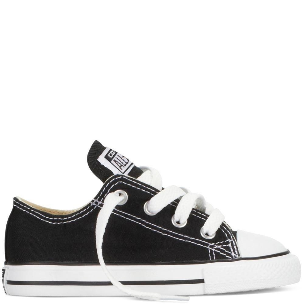 Converse Kids' Chuck Taylor All Star Canvas Low Top Sneaker B0007UZ2YW 4 M US Toddler Black