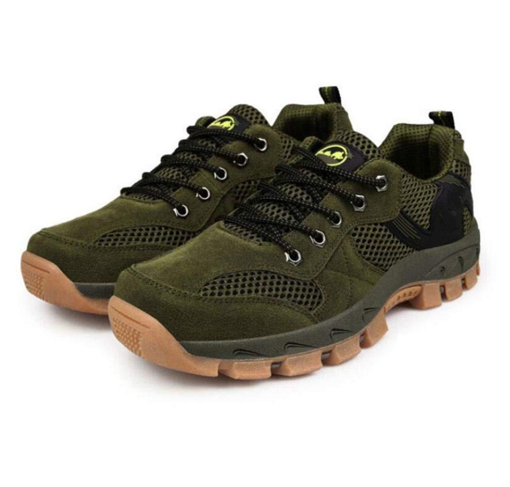 FuweiEncore sportsOutdoor Schuhe Mesh Reparatur Schritt Schuhe atmungsaktiv Dicke Rutschfeste Bergschuhe Sportschuhe (Farbe   Grün, Größe   45)