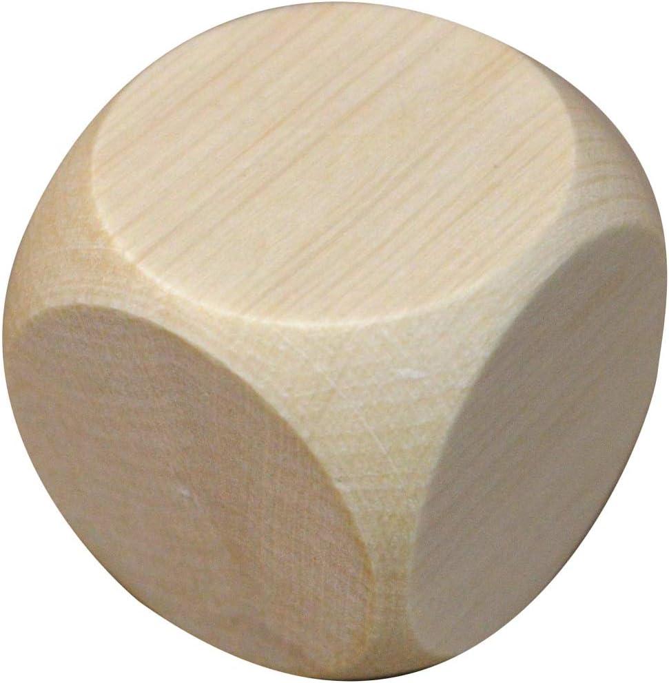Wooden World 5 Dados de Madera para el Juego 2 cm Juegos. Rompecabezas Cubos DIY