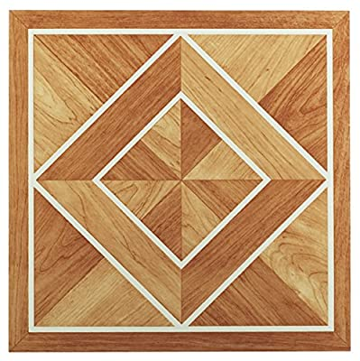 Achim Imports FTVWD20545 Tivoli White Border Classic Inlaid Parquet 12x12 Self Adhesive Vinyl Floor Tiles/45 Sq Ft, Piece