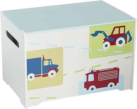 Juguete Caja Bomberos infantil Caja coches Niños baúl juguete ...