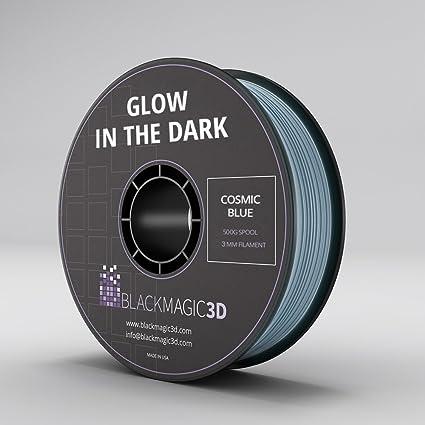 PLA Glow in the Dark Cosmic Blue 3D Printing Filament, 3 mm