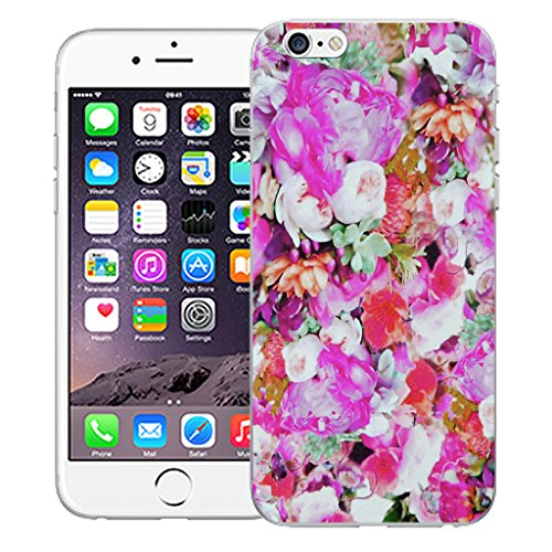 """Mobile Case Mate iPhone 6 4.7"""" Silicone Coque couverture case cover Pare-chocs + STYLET - Floret pattern (SILICON)"""