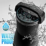 Waterproof Outdoor Bluetooth Speaker Tower (Black) by AVX Audio