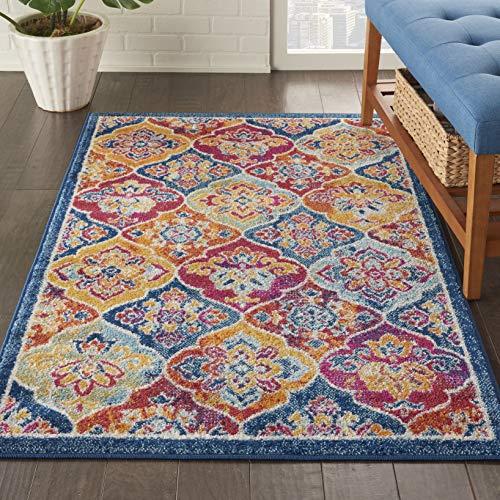 (Nourison PRV06 Persian Vintage 3' x 5' Bohemian Style Area Rug, Multicolor 3'3