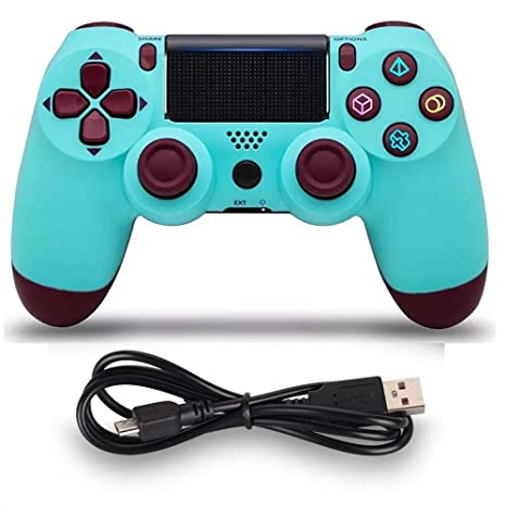 Amazon.com: Mando inalámbrico para PS4 MOVONE con cable USB ...