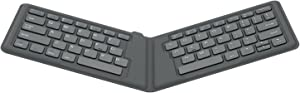 MoKo Universal Foldable Keyboard, Ultra-Thin Portable Wireless Keyboard for iPad, iPhone, Compatible with iOS, Android and Windows Tablet Devices, Gray